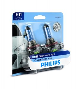 Philips H11 CrystalVision Ultra Headlight/Foglight bulb