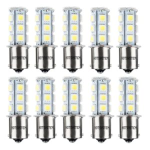 HOTSYSTEM 12V 1156 7506 1003 1141 LED SMD 18 LED Bulbs Interior RV Camper White 10-pack