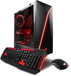 iBUYPOWER Gaming Computer Desktop PC AM001i Intel i5-7400 3.0Ghz, NVIDIA Geforce GTX 1060 3GB, 8GB DDR4 RAM, 1TB 7200RPM HDD, 120GB SSD, 802.11ac WiFi USB, Win 10 Home, VR Ready