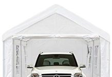 Peaktop 20'x10' Heavy Duty Portable Carport Garage Car Shelter