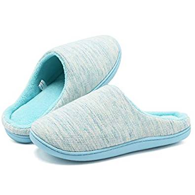 FCKEE Women's Men's Comfort Exquisite Upper Memory Foam Slippers