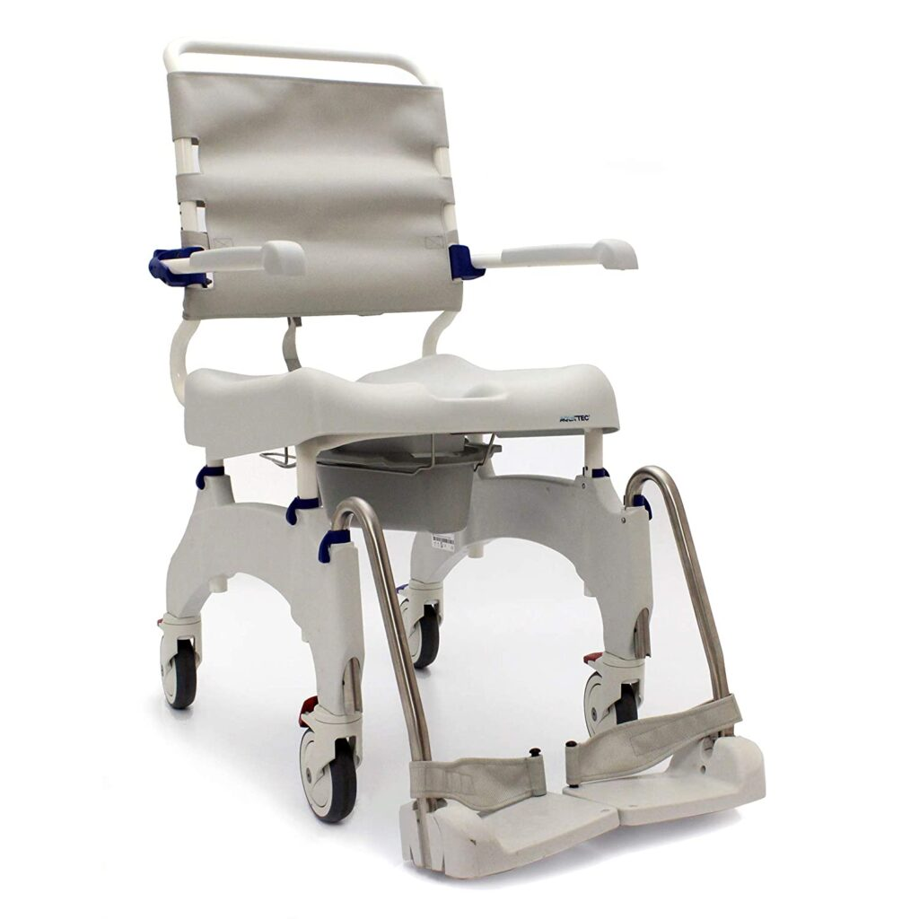Invacare Rolling Shower and Commode Wheelchair